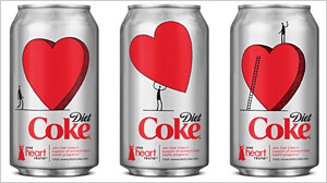 Photo: Whose Red Dress? Docs Debate Diet Coke Logo: Controversial Dress Logo Has Some Doctors Seeing Red Over Industry Ties
