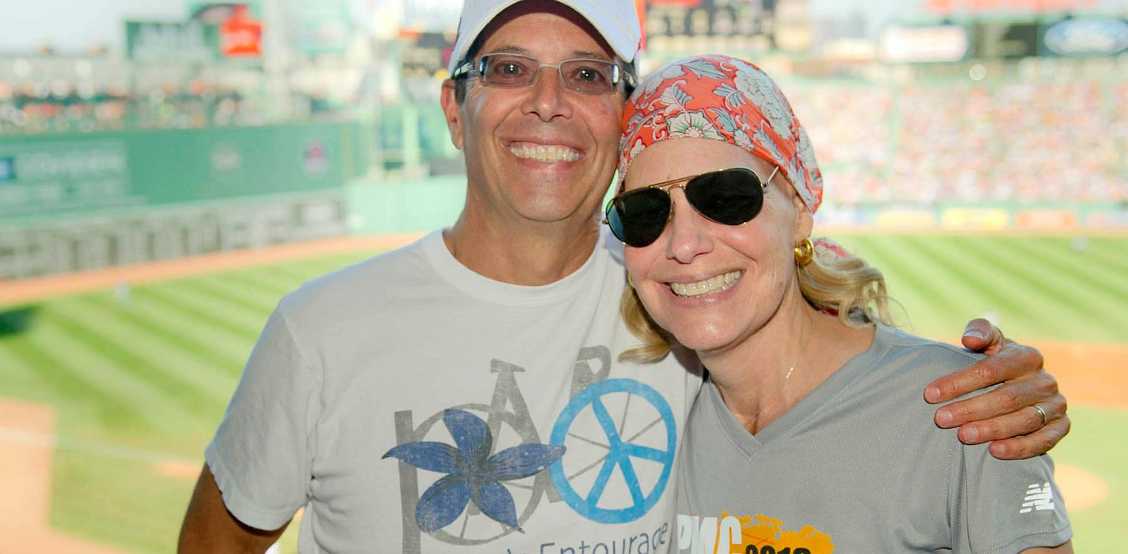 PHOTO: Rick and Erica Kaitz for cancer research.