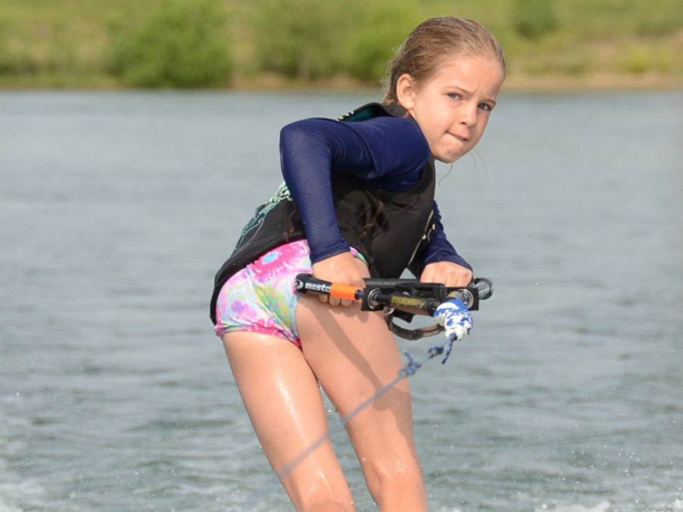 PHOTO: Hally Yust was loved to water ski and play in the pool. She was in four bodies of water in the two weeks before her death.