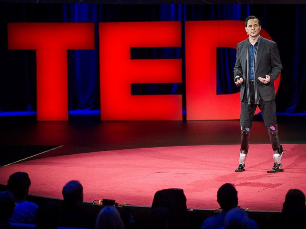 PHOTO: Hugh Herr speaks at a TED Conference in Vancouver, Canada, March 19, 2014.