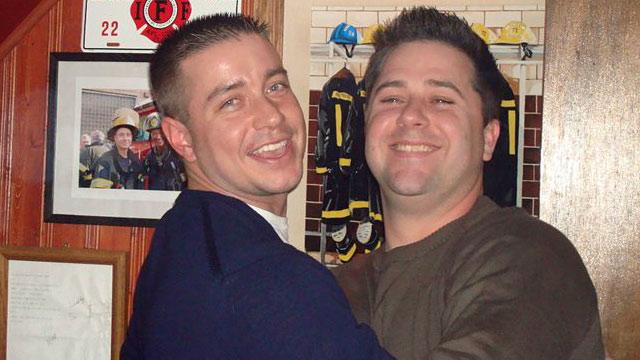 PHOTO:Late firefighter Jack Slivinski Jr. and friend