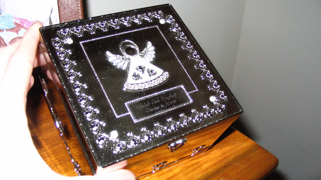 PHOTO: The silver memory box was Jody and Haley Hugheys only memento of their stillborn son.