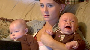 "PHOTO Reality show star Leah Messer and her twins on MTV?s ""Teen Mom 2."""