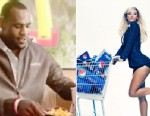 PHOTO: LeBron James stars in a McDonalds commercial. Beyonce at a Pepsi photo shoot in October 2012.