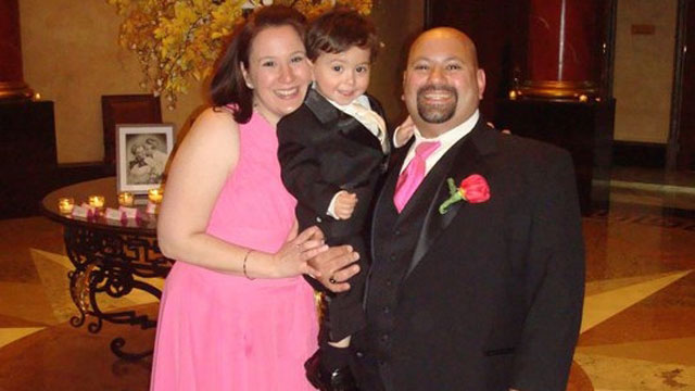 PHOTO: Nicole Malata, 34, of Toms River, N.J., with her husband Steve and their son Steven pose for a photograph in this family photo. Nicole was diagnosed with cancer in May and said her treatment decisions focus on making sure shes around for her 2-yea