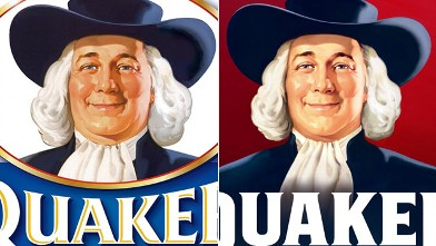 PHOTO: Larry, the Quaker Oats man, now looks slimmer and younger.