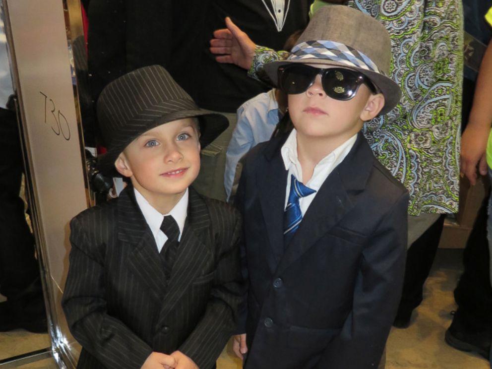 PHOTO: Two boys get ready for Memorial Sloan Ketterings Pediatric Prom at Promingdales.