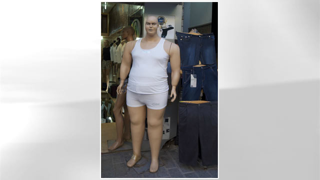 "PHOTO: This ""Obese Mannequin"" horrified many users of the online forum, Reddit."