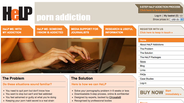 PHOTO:A new porn addiction site, helpaddictions.org/porn has been launched as a self-help and anonymous place for people with pornography addiction.