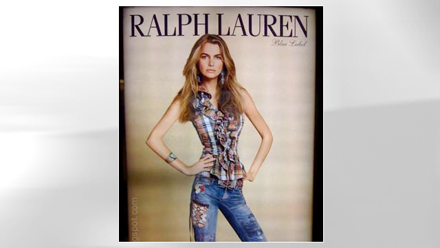 PHOTO:Photoshopped Ralph Lauren ad