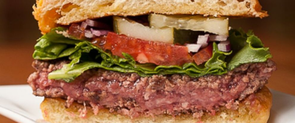 PHOTO: A view of a rare burger, courtesy of St. Louis Magazine.