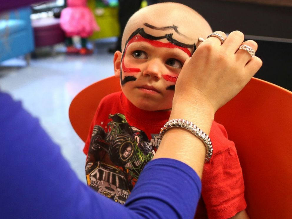 PHOTO: Some children tried out face painting for fun.