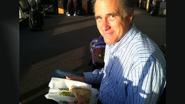PHOTO: Mitt Romney tweeted this photo of his subway sandwich.