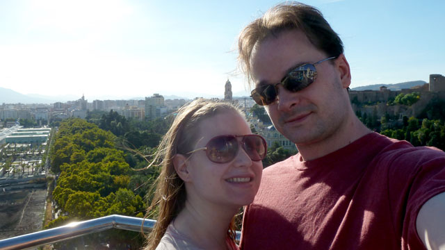PHOTO: Sarah and Justin Poitras, both 31, in Malaga, Spain. She was diagnosed with a rare lung disease last year.