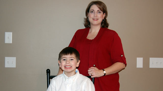 PHOTO: Shari McGuire never saw her son Trevor while working a 70-hour week.
