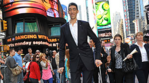 Photo: Worlds Tallest Man Gets Radiation to Zap Growth: Surgeons Perform Delicate Brain Surgery on Sultan Kosen