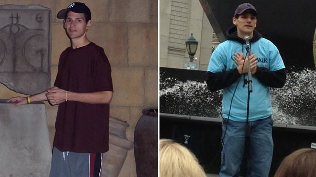 PHOTO: Victor Avon, 30, before and after his battle with anorexia. He is now a spokesman for the National Eating Disorders Association.
