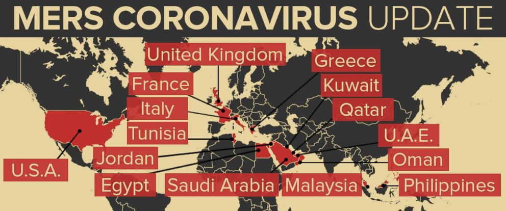 MERS Coronavirus Update Map
