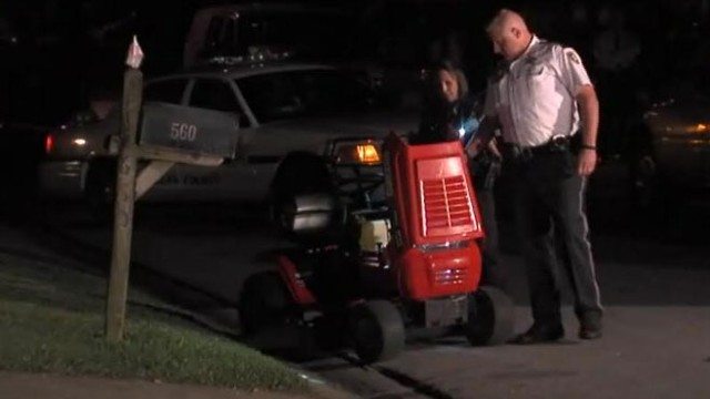 VIDEO: Florida dad accidently ran over his 2-year-old daughter with a riding lawn mower.
