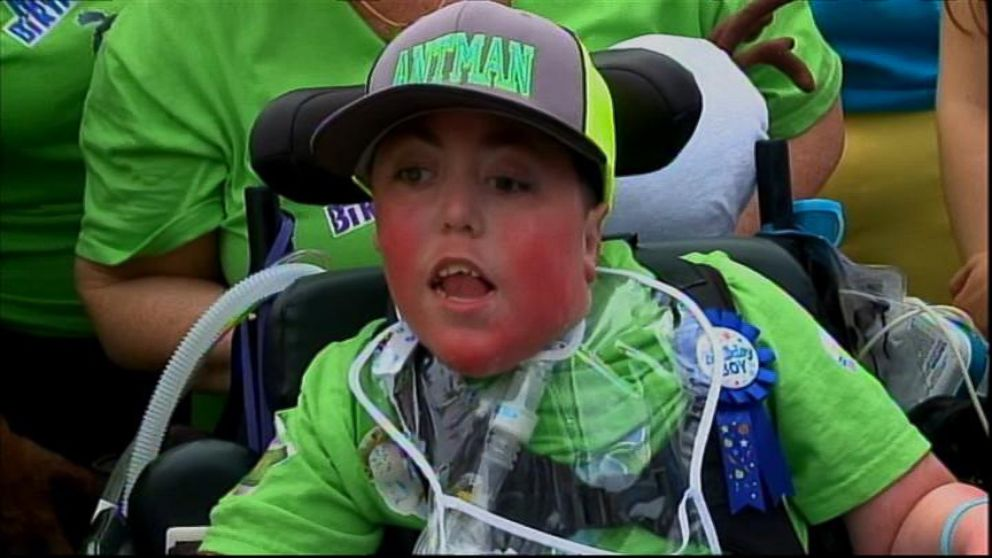 VIDEO: Anthony Katz, 13, was born with a rare genetic disorder that affects skeletal muscle tissue.