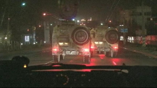 VIDEO: A Look At a Russian Convoy Inside the Crimea Region of Ukraine