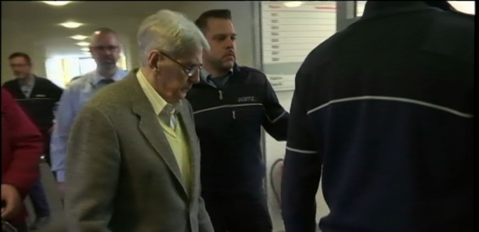 VIDEO: Reinhold Manning has been charged with being an accessory to 170,000 murders at the Auschwitz concentration camp.