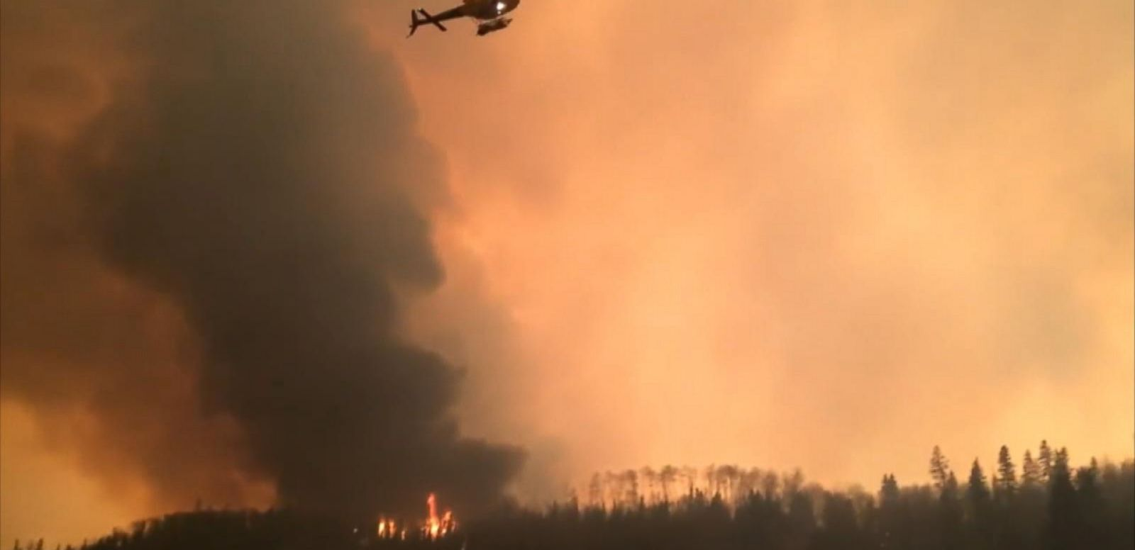 VIDEO: Wildfires Rage in Fort McMurray, Alberta, in Canada