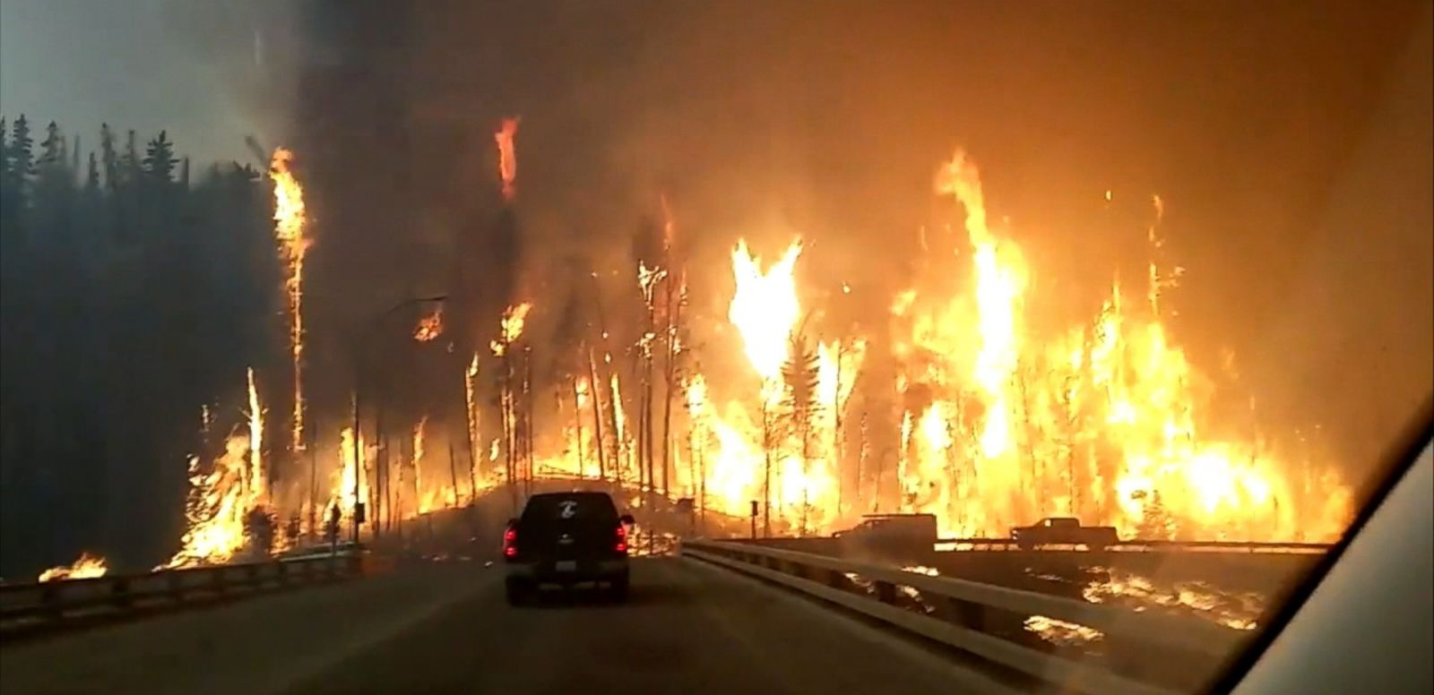 VIDEO: As wildfires continue to rage in Alberta, Canada, the provincial government has declared a state of emergency as two more communities prepared to evacuate overnight Wednesday.