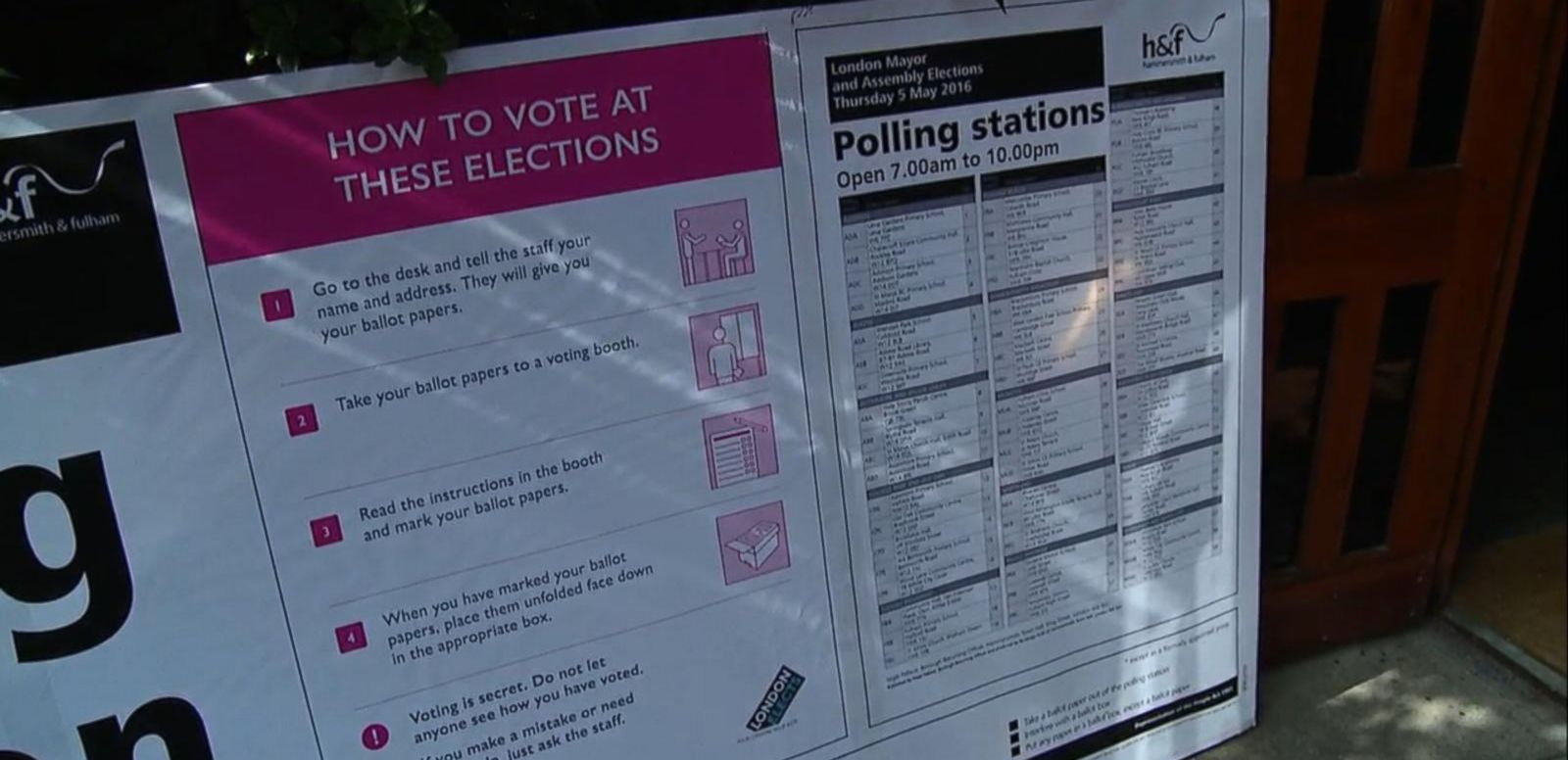 VIDEO: London Voters Cast Ballot for New Mayor