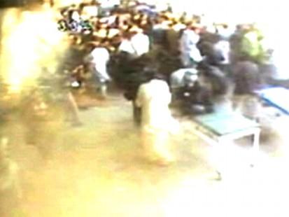 VIDEO: Attackers detonate a bomb at a hospital in Karachi. (No Audio)