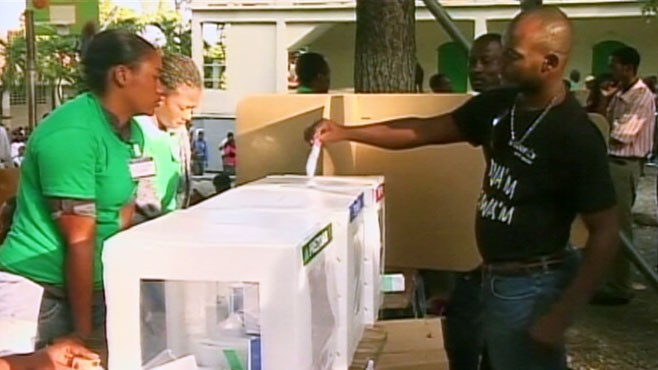 VIDEO: Presidential candidates in Haiti allege fraud and polling-place disorganization.