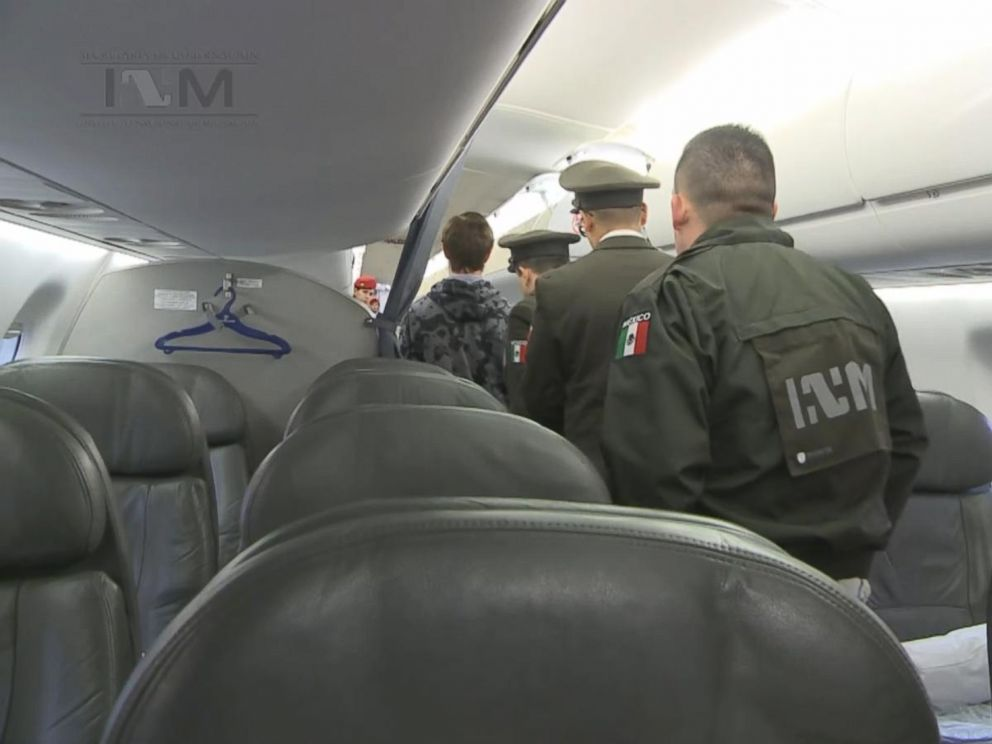PHOTO: Ethan couch boards a plane heading to the United States on Jan. 28, 2016.