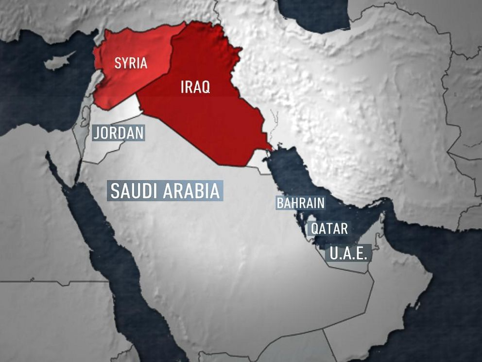 PHOTO: Several Arab nations are involved in the ongoing U.S.-led operation against ISIS targets in Syria, Centcom said. Centcom identified the nations as Jordan, Saudi Arabia, Bahrain, Qatar and the United Arab Emirates.
