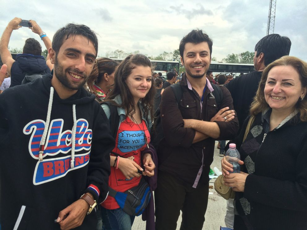 PHOTO: Randi, a 17-year-old girl from Aleppo, Syria, with her family.