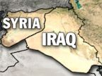 PHOTO: This topographical map of the Middle East highlights the shared boarder between Syria and Iraq.