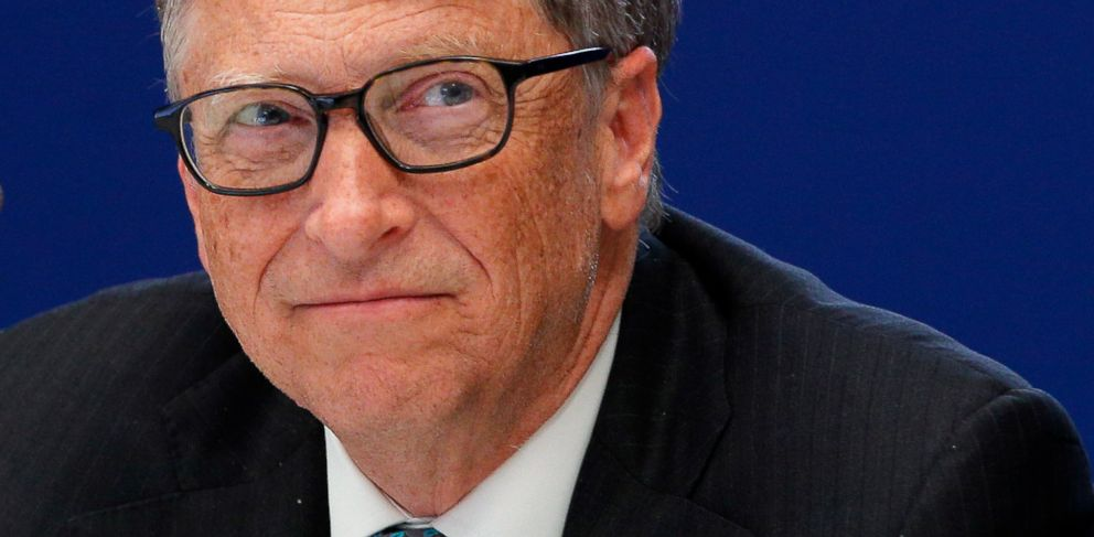 PHOTO: Bill Gates, philanthropist and co-founder of Microsoft, attends a conference at the COP21, United Nations Climate Change Conference, in Le Bourget, outside Paris, Nov. 30, 2015.