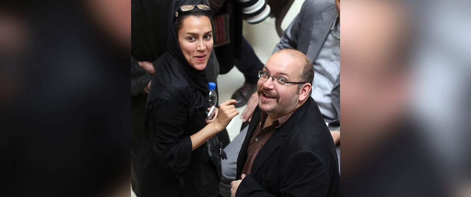 PHOTO: Jason Rezaian, an Iranian-American correspondent for the Washington Post, and his wife Yeganeh Salehi, an Iranian correspondent for the Abu Dhabi-based daily newspaper, The National, in Tehran, Iran, April 11, 2013.