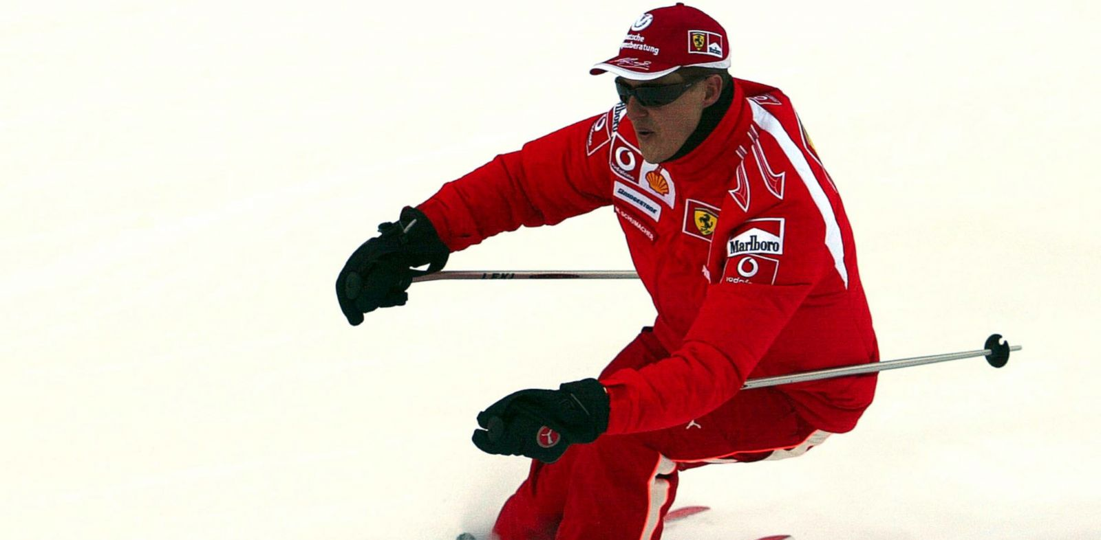 PHOTO: Formula One driver Michael Schumacher of Germany speeds down a course in the Madonna di Campiglio ski resort, in the Italian Alps on Jan. 12, 2006.