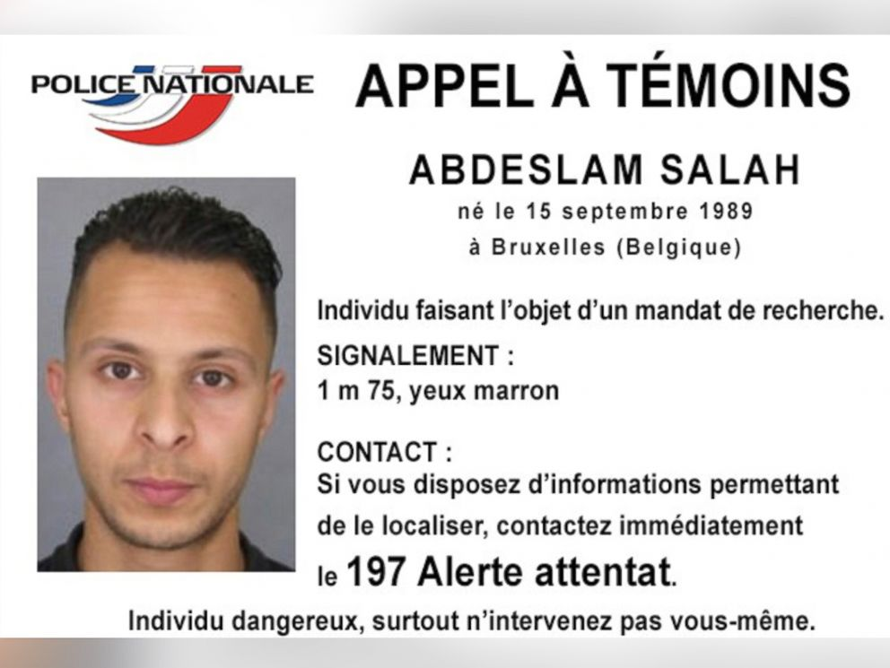 PHOTO: This undated file photo released, Nov. 13, 2015, by French Police shows 26-year old Salah Abdeslam, who is wanted by police in connection with recent terror attacks in Paris, as police investigations continue.