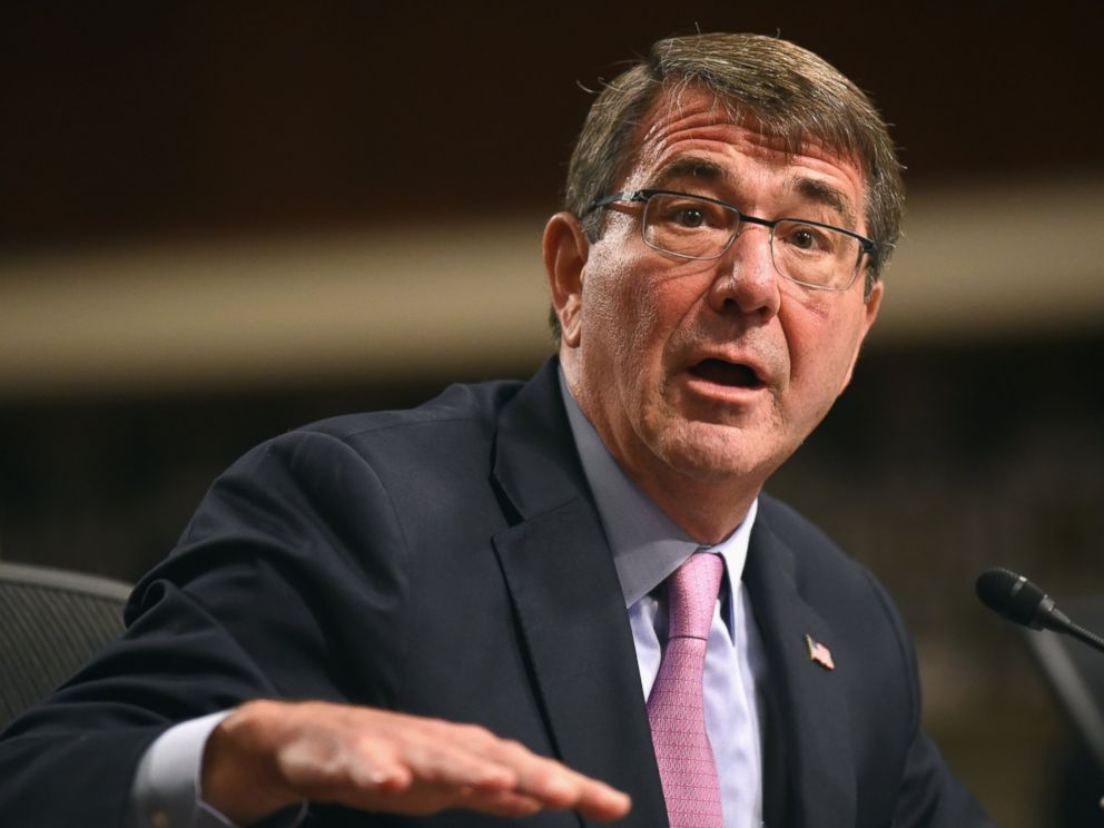 PHOTO: Defense Secretary Ash Carter testifies on Capitol Hill in Washington, Oct. 27, 2015, before the Senate Armed Services Committee.