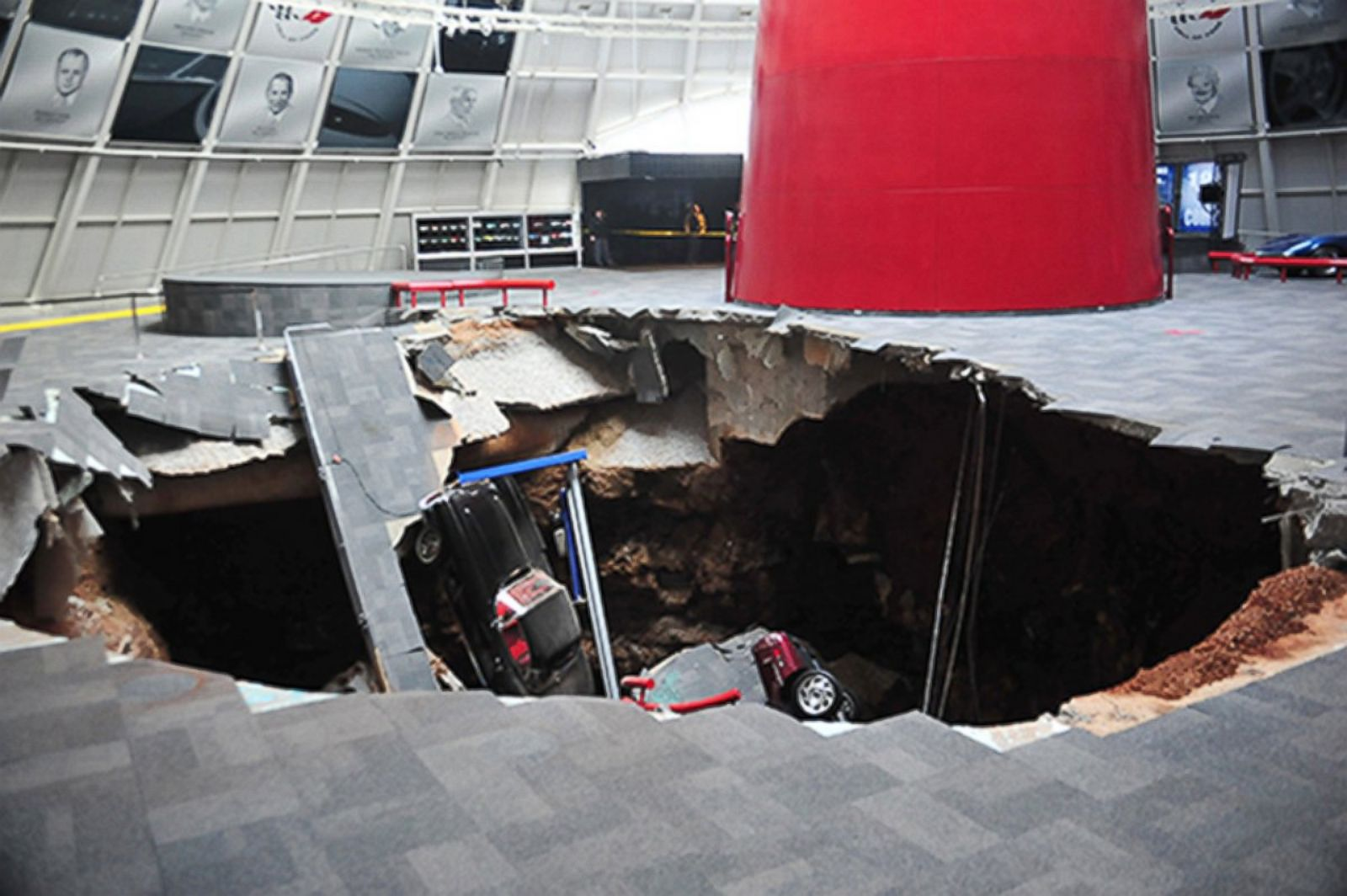 Corvettes Collapse Into Giant Sinkhole