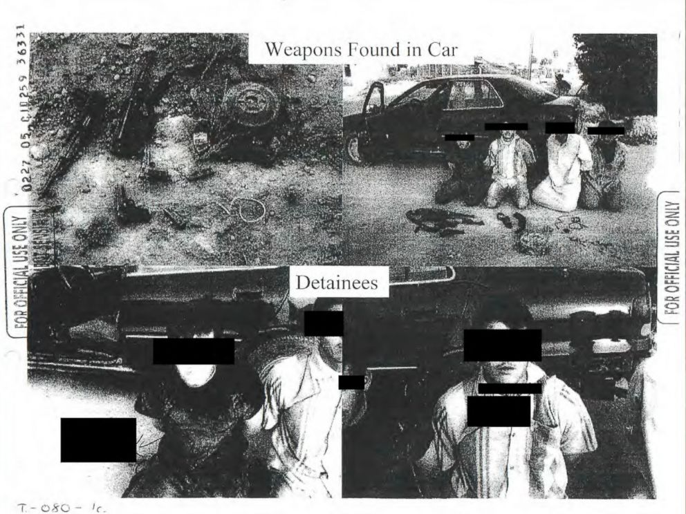PHOTO: This image provided by the Department of Defense shows one of the 198 photos of detainees in Iraq and Afghanistan, involving 56 cases of alleged abuse by U.S. forces, that were released Friday, Feb. 5, 2016.
