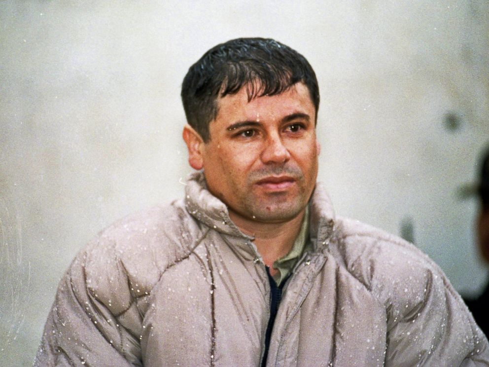 PHOTO: Joaquin Guzman Loera, alias El Chapo Guzman is shown to the press after his arrest at the high security prison of Almoloya de Juarez, outskirts of Mexico City, June 10, 1993.