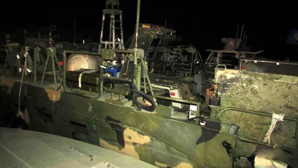 PHOTO: This picture released by the Iranian Revolutionary Guards, Jan. 13, 2016, shows American Navy boats in custody of the guards in an undisclosed location in Iran.