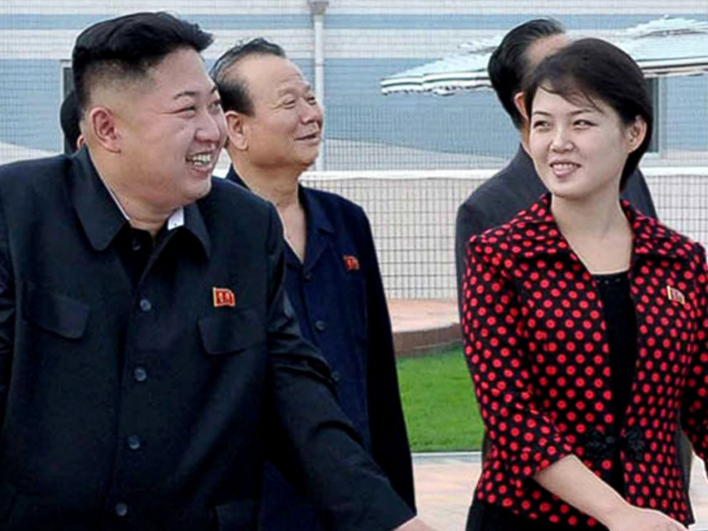 PHOTO: Kim Jong Un, left, and his wife Ri Sol Ju, right, are pictured in Pyongyang, North Korea in this undated file photo.