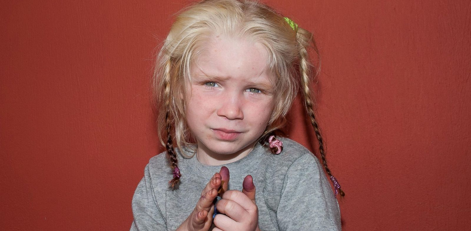 PHOTO: An unidentified child located near the town of Farsala, Greece.