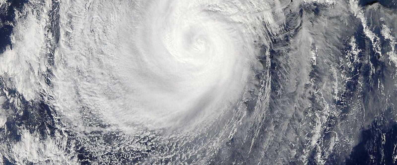 PHOTO: A picture captured by NASAs Aqua satellite of Typhoon Nuri, Nov. 5, 2014.