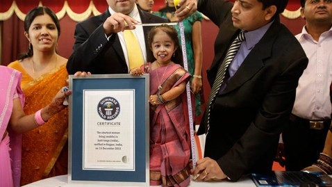 Ap worlds shortest woman jyoti amge thg 111216 wblog Guinness Names Worlds Shortest Woman