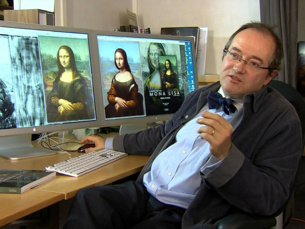 PHOTO: Pascal Cotte, a French scientist, claims he has found a hidden portrait underneath the Mona Lisa.