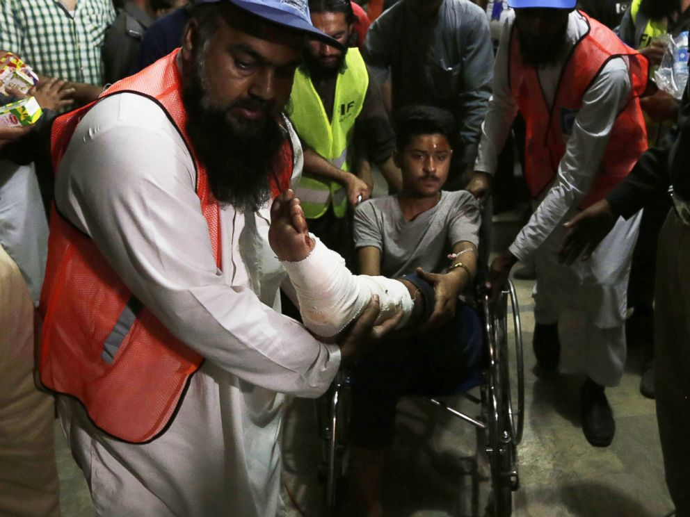 PHOTO: A boy who was injured in a suicide bomb blast leaves after getting medical treatment at a hospital in Lahore, Pakistan, March 27, 2016.